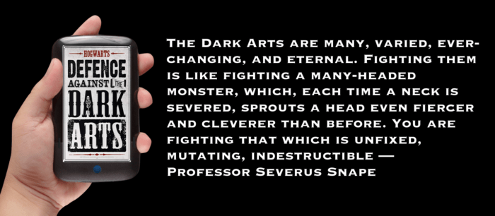 Defense against the dark arts - Snape quote. Banner image
