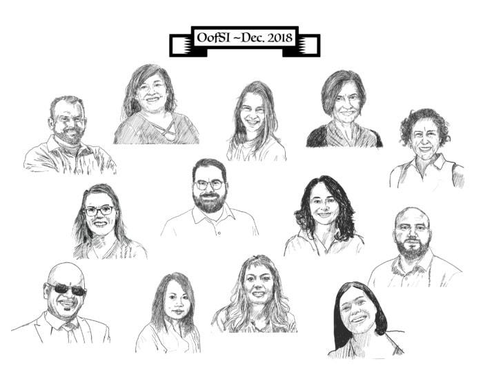 OofSI 2018 team - sketch
