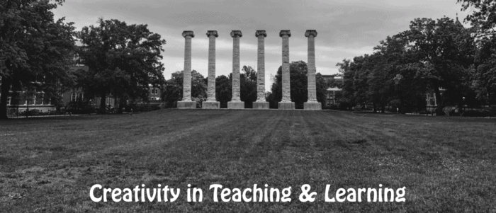 Creativity in Teaching and Learning: Photo of 5 columns at Mizzou