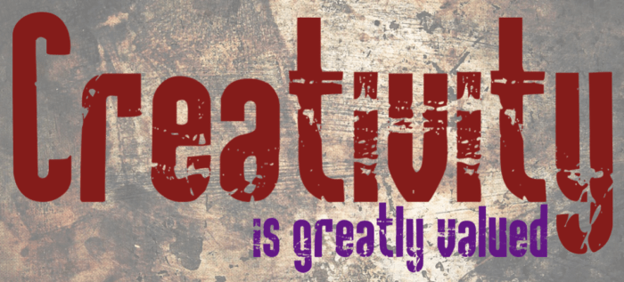 Creativity is greatly valued: Banner image