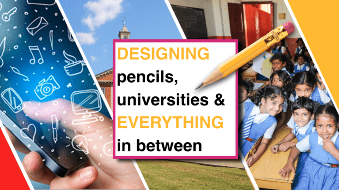Banner image: Designing pencils, universities and everything in between. Image design: Punya Mishra